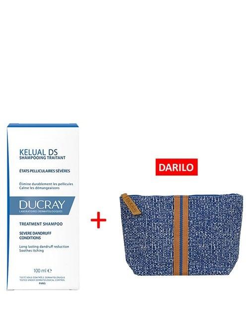 DUCRAY-Kelual-DS-šampon-+-DARILO-Ducray-toaletna-torbica