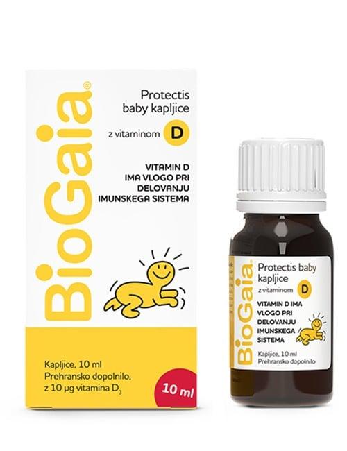 BioGaia Protectis baby kapljice z vitaminom D_10 ml